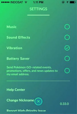 sound effect Pokemon Go di iPhone 4S