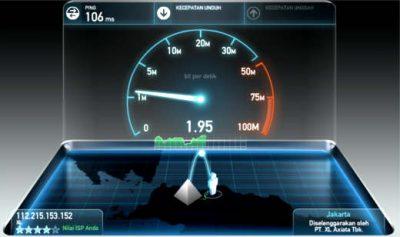tes kecepatan internet